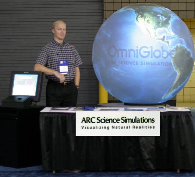 OmniGlobe exhibit at ASTC 2003